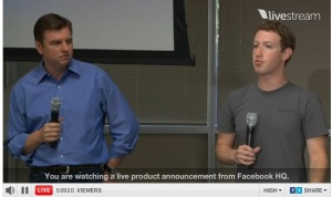 Tony Bates, Skype CEO & Mark Zuckerberg