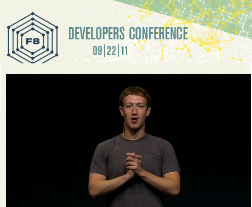 Mark Zuckerberg en la Conferencia f8.